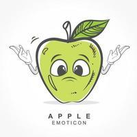 disegno vettoriale carattere mela