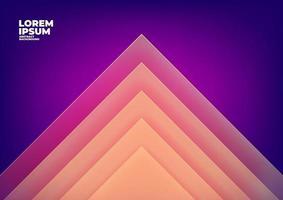 triangolo astratto si sovrappongono a sfondo viola con spazio per testo e messaggio. vettore