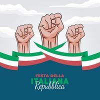 poster del giorno della repubblica d'italia vettore