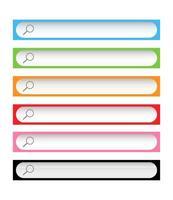 barre degli strumenti di ricerca colorate vettore