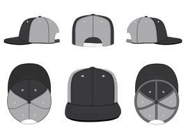 Vettore del modello del cappello della maglia del camionista