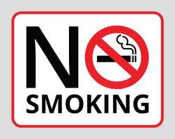 Vettore di simbolo - vettore non fumatori