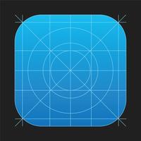 griglia di vettore icona app ios7