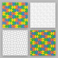 campione di puzzle vettoriale