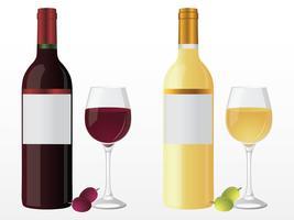 Bottiglia di vino rosso vettore