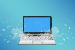 laptop con schermo rotto vettore
