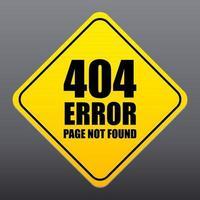 Pagina di errore 404 non trovato vettore di segno