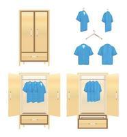 armadio con camicia vettore
