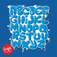 Alfabeto dei graffiti vettore