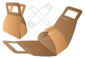 webbox packaging fustellato modello di progettazione. Modello 3d vettore