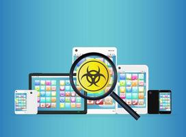 smartphone e tablet hanno rilevato virus vettore
