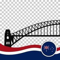 felice giorno in australia 26 gennaio modello di progettazione. Giorno dell'Indipendenza vettore