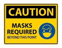le maschere dei simboli di attenzione richieste oltre questo segno di punto vettore