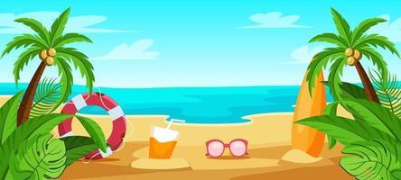 sfondo spiaggia estiva vettore