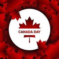 progettazione del fondo delle foglie di acero di caduta di pendenza di giorno del Canada vettore