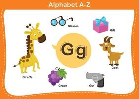 alfabeto lettera g illustrazione vettoriale