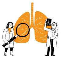 concetto di assistenza sanitaria di pneumologia di medicina respiratoria. vettore