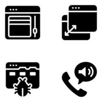 moderni strumenti di progettazione di siti web vettore