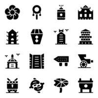 elementi di hong kong vettore