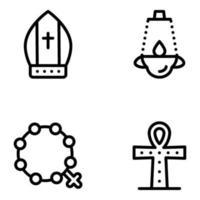 religiosi ed elementi vettore