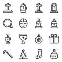 decorazioni natalizie e cimitero cattolico vettore