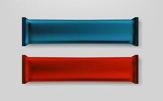 barretta di cioccolato nel clipart di vettore del pacchetto della stagnola di colore isolato
