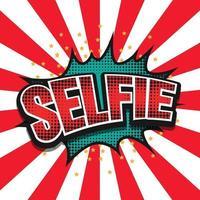 selfie fumetto comico design retrò vettore