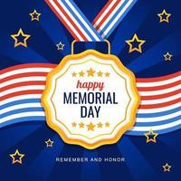 saluto del memorial day degli Stati Uniti vettore