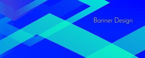 fondo moderno decorativo blu geometrico astratto di progettazione dell'insegna vettore