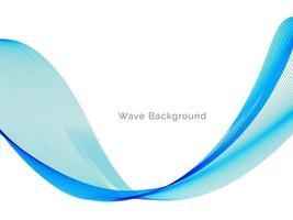 astratto liscio elegante onda blu sullo sfondo vettore