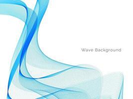 priorità bassa moderna blu astratta di disegno dell'onda vettore