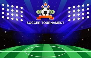sfondo del torneo di calcio vettore