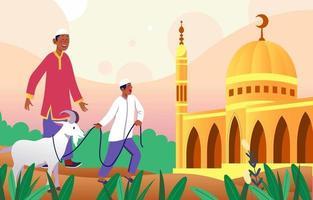 celebrare il concetto di eid al adha vettore