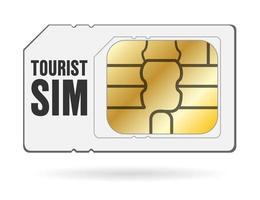 carta sim per smartphone internet turistico di viaggio globale vettore