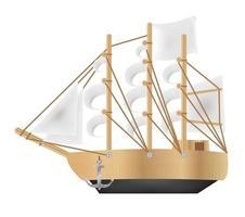 un vettore di barca galeone