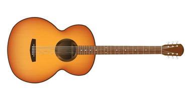 una chitarra acustica vettore