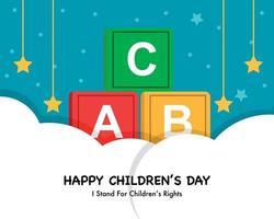 vettore di giornata mondiale dei bambini piatto