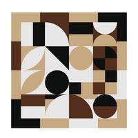 disegno della copertina del taccuino di forme geometriche astratte, illustrazione senza cuciture di vettore del modello