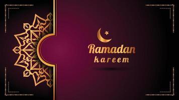 sfondo logo mandala ornamentale di lusso, stile arabesco. vettore