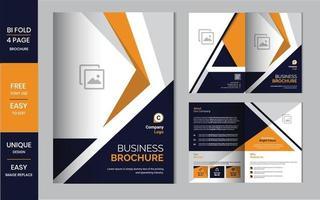 modello di progettazione brochure aziendale aziendale o layout volantino vettore
