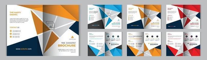 modello di progettazione brochure aziendale aziendale o set di volantini vettore