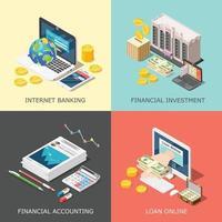illustrazione di vettore di concetto di progettazione di investimento finanziario