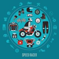 design rotondo speed racer vettore