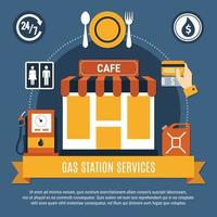 illustrazione vettoriale di volantino piatto pompa carburante