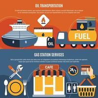 illustrazione stabilita di vettore della composizione piana della pompa del carburante
