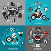 concetto di design moto 2x2 vettore