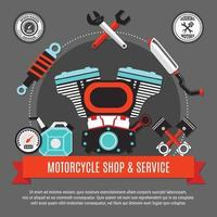 negozio e servizio di motociclette vettore