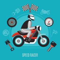 concetto di design speed racer vettore