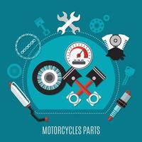 concetto di design di parti di motociclette vettore