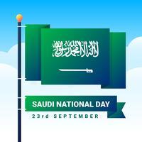 Festa dell'indipendenza nazionale dell'Arabia Saudita vettore